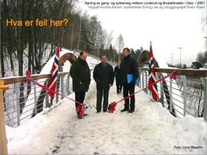 Frå presentasjonen Vinterforhold for gående og syklende, Statens vegvesen